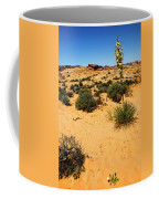 Yucca And Desert Primrose In The Valley Of Fire Coffee Mug