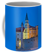 Zadar Landmarks Evening Vertical View Coffee Mug