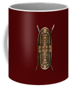 Zande War Shield With Spears On Red Velvet  Coffee Mug