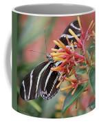Zebra Butterfly With Blue Eyes Coffee Mug