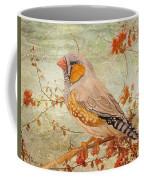 Zebra Finch Among Almond Trees Coffee Mug by Angeles M Pomata