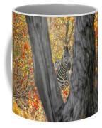 Zebra In Mopane Textures Coffee Mug