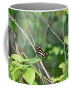 Zebra Longwing Butterfly About To Take Flight Coffee Mug