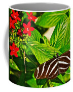 Zebra Longwing Butterfly In Living Desert Zoo And Gardens In Palm Desert-california  Coffee Mug