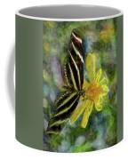 Zebra Longwing Butterfly Coffee Mug