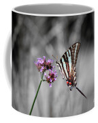 Zebra Swallowtail Butterfly And Stripes Coffee Mug