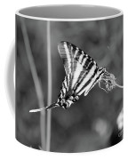 Zebra Swallowtail Butterfly Black And White Coffee Mug