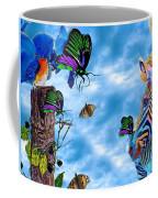 Zebras Birds And Butterflies Good Morning My Friends Coffee Mug