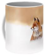 Zen Fox Series - Zen Fox In Winter Mood Coffee Mug