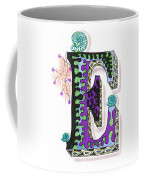 Zentangle Inspired E #4 Coffee Mug