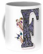 Zentangle Inspired F #2 Coffee Mug