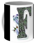 Zentangle Inspired F #3 Coffee Mug