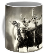 Ziegfeld Model  Dancers By Alfred Cheney Johnston Black And White Ballet Coffee Mug