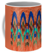 Zig Zag Pattern On Orange Coffee Mug