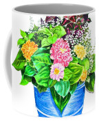 Zinnia Container Garden Coffee Mug