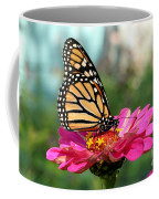 Zinnia With The Monarch Coffee Mug