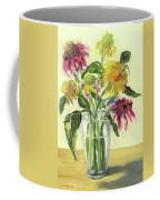 Zinnias In Vase Coffee Mug