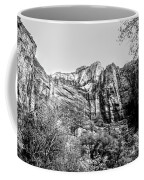 Zion National Park Utah Black White  Coffee Mug