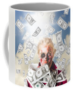 Zombie With Crazy Money. Filthy Rich Millionaire Coffee Mug