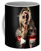 Zombie Woman Expressing Fear And Shock When Waking Coffee Mug