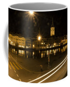 Zurich At Night Coffee Mug