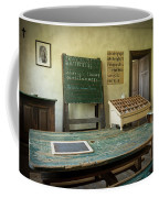 An Old Classroom With Blackboard And Boards With Old Script Coffee Mug