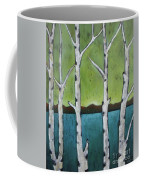 Aspen Trees On The Lake Coffee Mug
