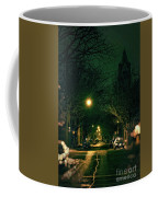 Dark Chicago City Street At Night Coffee Mug