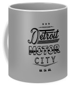 Detroit Motor City Coffee Mug