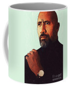Dwayne Johnson Artwork Coffee Mug