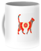 Fire Flower Cats Coffee Mug
