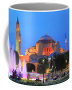 Hagia Sophia At Night Istanbul Turkey  Coffee Mug