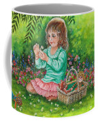 He Loves Me--he Loves Me Not Coffee Mug by Val Stokes