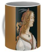 Portrait Of A Young Woman, Portrait Of Simonetta Vespucci As Nymph Coffee Mug