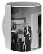 In The Photo The New President Of The Republic Urho Kekkonen Is Photographed At The Presidential Pa Coffee Mug