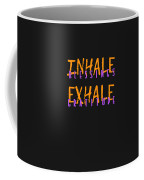 Inhale Blessings Exhale Gratitude Coffee Mug