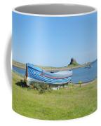 Lindisfarne Castle, Bay And Boat Coffee Mug