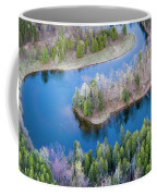 Manistee River Bend From Above Coffee Mug