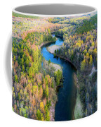 Manistee River From Above In Spring Coffee Mug