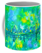 Memphis Green Coffee Mug by Kendall Kessler