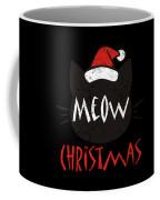 Meow Christmas Distressed Coffee Mug