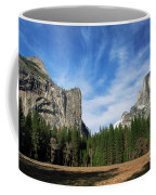 North Dome And Half Dome, Yosemite National Park Coffee Mug