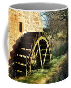 old mill wheel and stream at Preston Mill, East Linton Coffee Mug