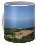 Photography View Over The Mountain Village Erice In Sicily Coffee Mug