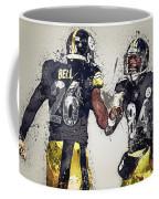 Pittsburgh Steelers.le'veon Bell And Antonio Brown Coffee Mug