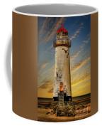 Point Of Ayr Lighthouse Sunset Coffee Mug