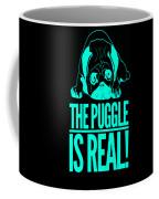 Puggle Is Real Funny Humor Pug Dog Lovers Coffee Mug