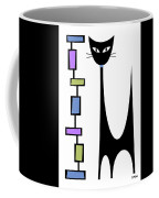 Rectangle Cat 2 Coffee Mug by Donna Mibus