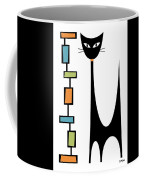 Rectangle Cat Coffee Mug by Donna Mibus