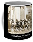Rickshas And Drivers, 1904 Worlds Fair Coffee Mug
